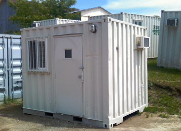 small portable office. Container Converted To A Guard Tower, Site Office Or Small Living Quarters Portable E