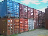 Wide variety of used shipping containers