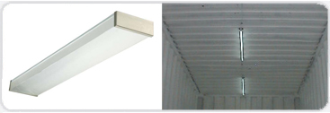 Internal lighting for shipping container
