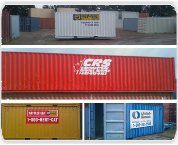 Secure Store offers painting and logoing your container