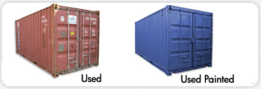 Used container and used container paited