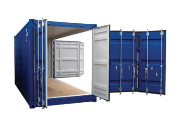 20 foot side open container