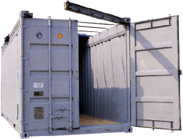 Open top 20 foot container