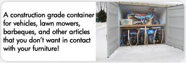 Construction grade container for hazardous materials