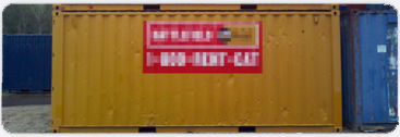 Custom colour and logos on clients purchased storage containers