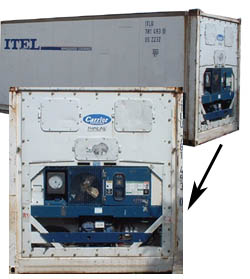Reefer unit for the restaurant industry